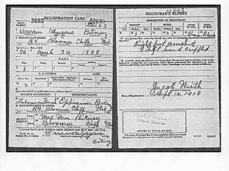World War I Draft Card