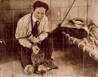 Harry Houdini movie poster 1912