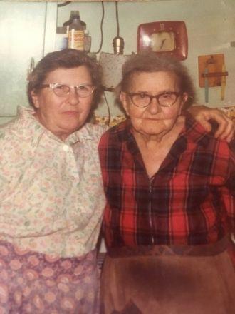 Lola M (Brown) Fisher & Alice (Ehrhardt) Brown Walker (mother)