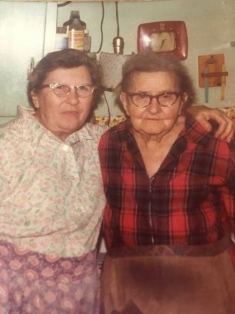 Lola M (Brown) Fisher & Alice (Ehrhardt) Brown Walker (mother)