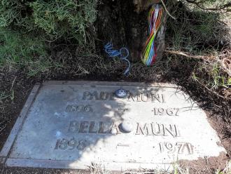Paul Muni gravesite. May 2021