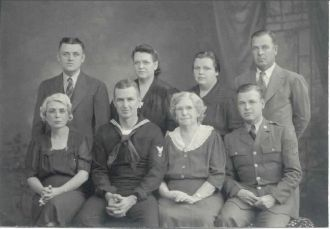 Family photo before sons went to WW II