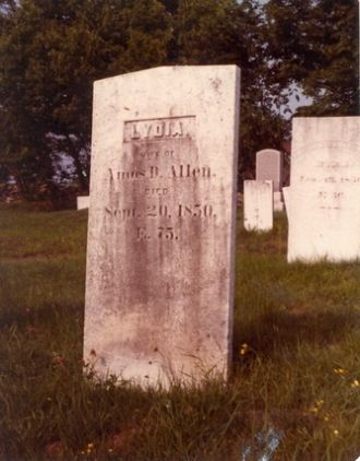Lydia Tracy gravestone