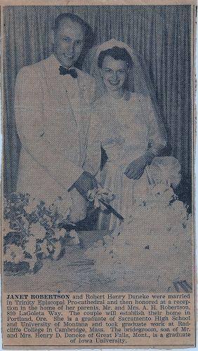 Robert & Janet Daneke, 1950 California