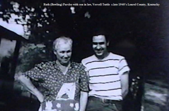 Ruth (Bowling) Parsley and Versell Tuttle