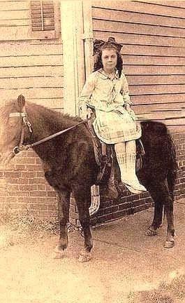 Mom on horseback