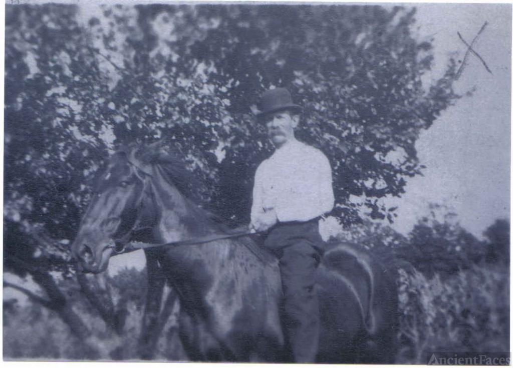 Charles Blankenship On Horseback