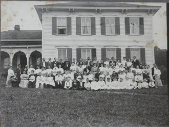 Town family reunion of 1906 in Arkwright, NY