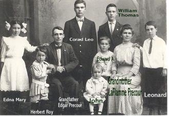 Edgar & Phillipina (LaFlamme) Precour Family