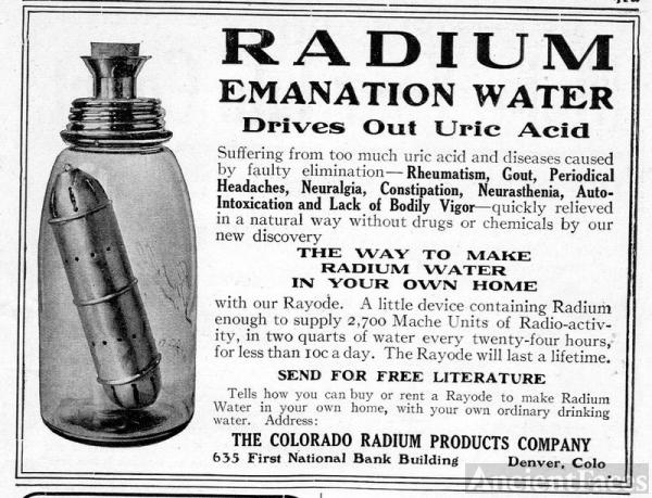 Radium Emanation Water