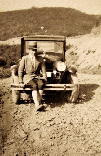 Unknown man with Car