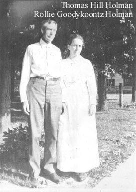 Thomas & Rollie (Goodykoontz) Holman, 1910