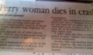 Kristin Marie Barnett - newspaper
