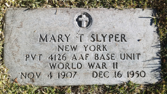 Mary T Slyper headstone at Hollywood Forever Cemetery
