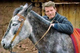 Victor Englebert and donkey
