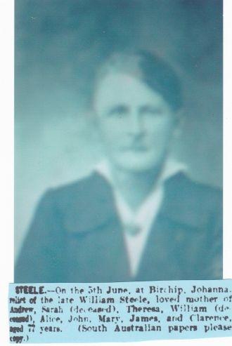 A photo of Johanna Caroline Augusta Steele
