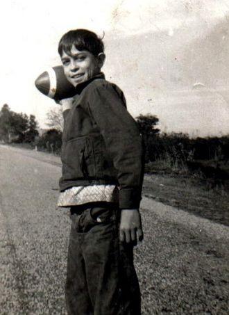 Freddie Knowles playing football