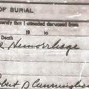 Sarah Pauline Reed Burial Certificate