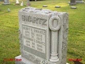 Henry C & Susannah Swartz grave