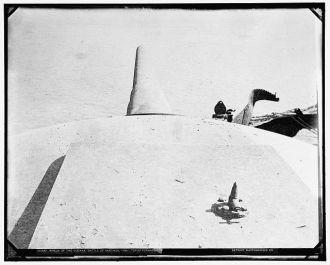 Wreck of the Vizcaya, Battle of Santiago, top of forward...