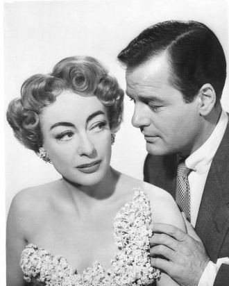 Joan Crawford and Gig Young.