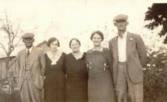 Whitby family at Ora Baker's farm