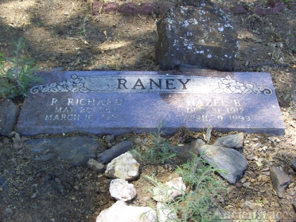 Hazel Velna Burrell Raney Headstone