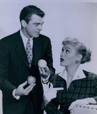 Eve Arden and husband, Brooks West