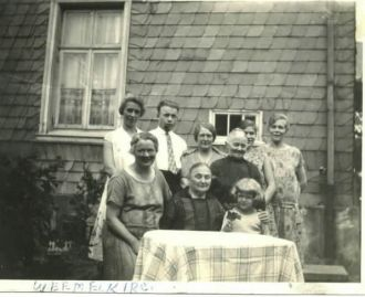 Clair Kirchner with German relatives