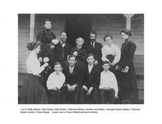 Bower & Hilderbrand Families, Texas 1890