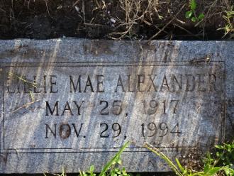 Lillie M Alexander Gravesite
