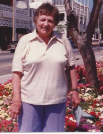 Close-up of Christine Jehanne Burton.