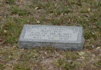 Baby Boy Norvell Headstone