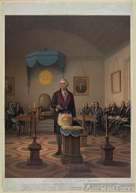 Washington as a master Mason