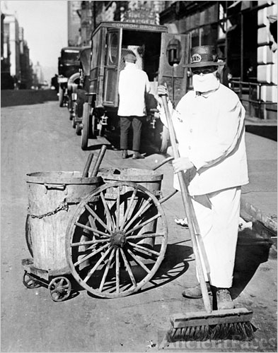 Streetcleaner, 1918 flu pandemic