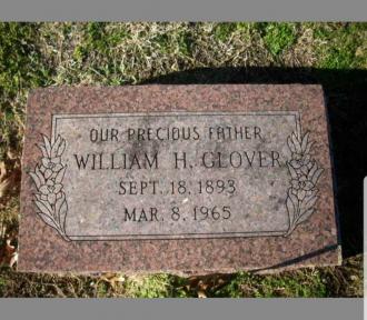 William Hilbert Glover Gravestone