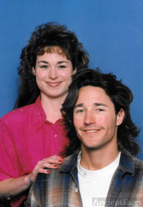 Sister and Brother Kristine Elizabeth (b.1971-living) and Brien Edward Smith (1970-lliving), late 1980's or 1990's