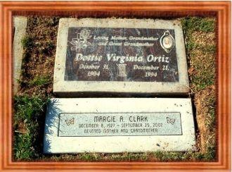 Headstones of Dottie and Daughter Margaret