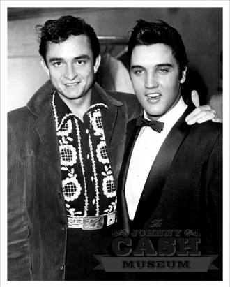 Johnny Cash and Elvis Presley.