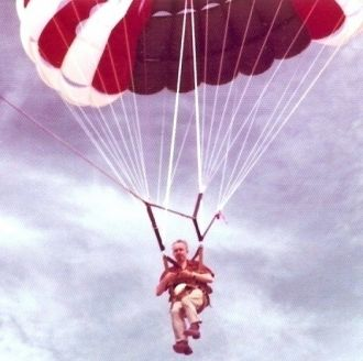 James Grinnell Blanchard parasailing in Mexico.