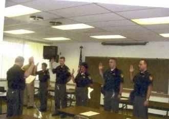 Stark County Sheriff's office, getting sworn in