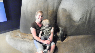 Mom And Son At The Zoo
