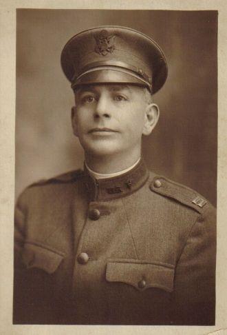 Dr. Albert Lancaster in World War I Uniform