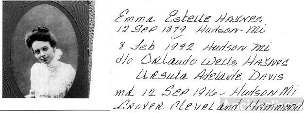 Emma Estelle 10) HAYNES