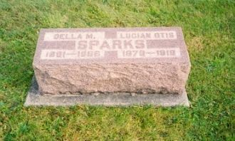Lucion Otis Sparks & Della May Wolfcale gravestone