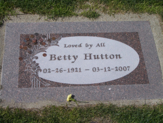 Her grave.