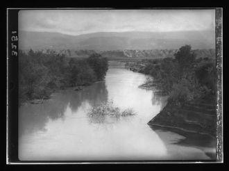[Jordan River below Sheik Hussein. Showing depression...