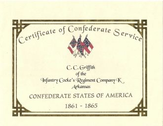Christopher Columbus Griffith's Certificate