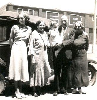 Colbert Family in California, 1936