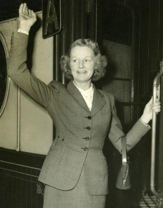 Monica Dickens, train